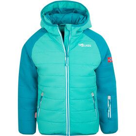 TROLLKIDS Hafjell Pro Sneeuwjas Kinderen, light petrol/dark mint/white